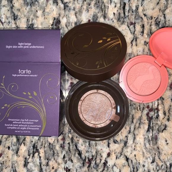 tarte Other - Airbrush Foundation Powder + Blush Deluxe